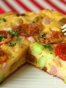 夏野菜たっぷりスパニッシュオムレツ