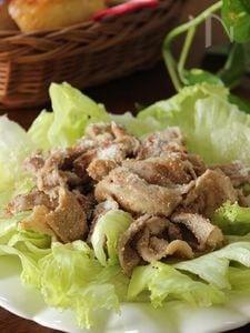 レタスと明太マヨ焼肉