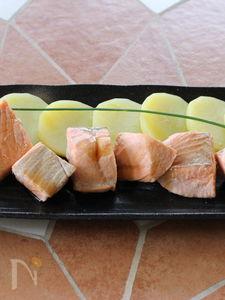 鮭のポン酢バターサラダ