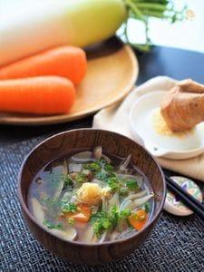 冬にオススメ☆身体ポカポカ根菜スープ