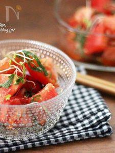 キンキンに冷やして食べたい♡ポン酢でトマトナムル♡