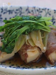 豆腐の肉巻き、すき焼き風
