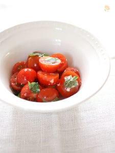 ミニトマトのごま油&塩麹和え