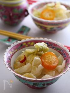 春キャベツがもりもり食べられる!金柑入り辣白菜