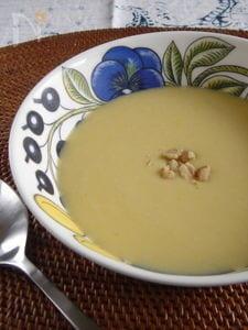 安納芋の豆乳ポタージュ。