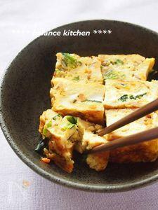 【お節・お弁当】巻かずに簡単!野菜たっぷりふわふわ卵焼き