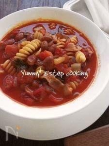 パスタと豆のトマト煮込み、パスタ・エ・ファジョリ