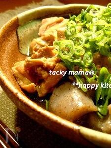 圧力鍋でお肉ほろほろ♪鶏肉とこんにゃくのピリ辛味噌煮込み