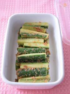 きゅうりのおかか梅味噌あえ 作り置きレシピ