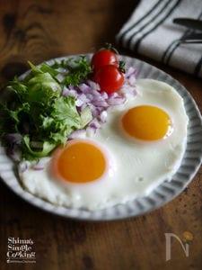 綺麗な黄身の目玉焼きを作るコツ【半熟目玉焼き】