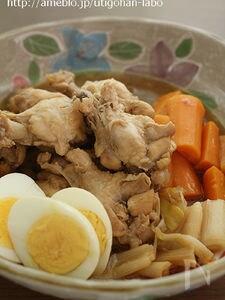 圧力鍋で2分!鶏手羽元とにんじんの酢っぱ煮