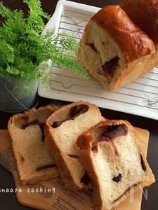 きなこを練り込んだ山型あんこ食パン♡