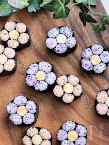 【飾り巻き寿司】桃の花