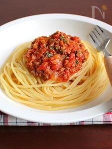 料理初心者でも、味付けが簡単!【和風ボロネーゼ】