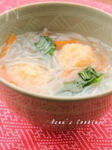 ふわっと海老団子の生姜スープ
