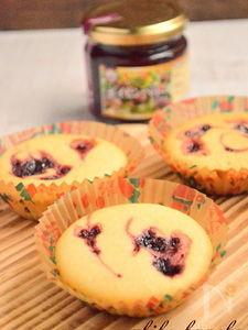 ボイセンベリーのカップケーキ