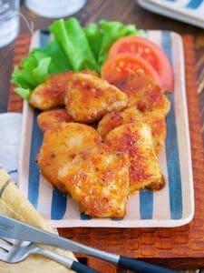 お弁当にも♪『むね肉 de 味噌マヨ照り焼きチキン』