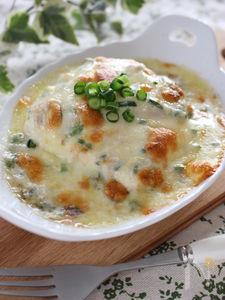 簡単おつまみ、豆腐グラタン