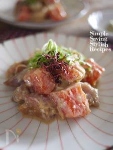 簡単!節約!切り落とし魚の海鮮胡麻味噌和え(海鮮茶漬けも)