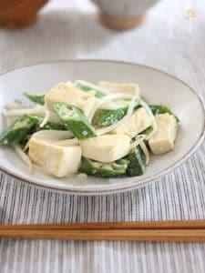 豆腐とオクラの塩麹炒め