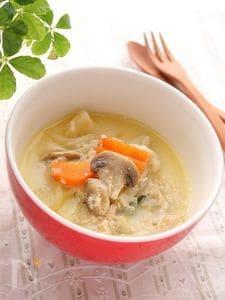 寒さも和らぐ優しい味♪ツナと根菜のミルク煮