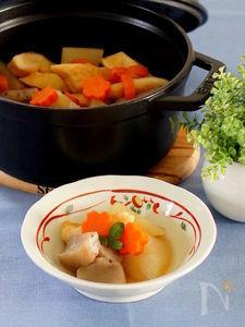 ストウブオーブン煮で大根の煮物
