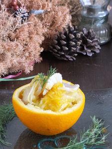 魚介とセロリのオレンジマリネ。