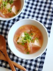 白菜と豆腐のたらこスープ