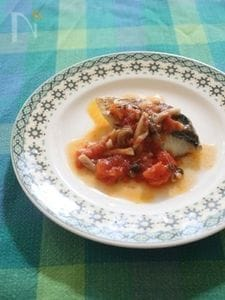 鰆のポワレフレッシュトマトソース