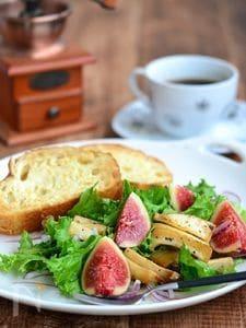 エリンギと無花果のバター醤油サラダ