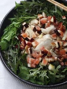 鶏胸肉と無花果のサラダ