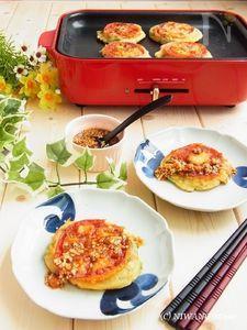 こんがりもちもち朝ごはん! トマトとじゃこと大葉のチヂミ