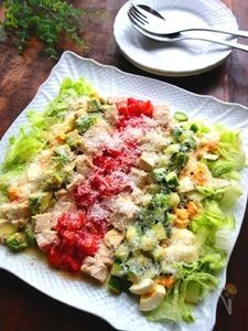 パルミジャーノたっぷり☆彩り野菜のコブサラダ