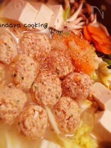 つみれたっぷり優しい味の味噌生姜鍋(o^^o)