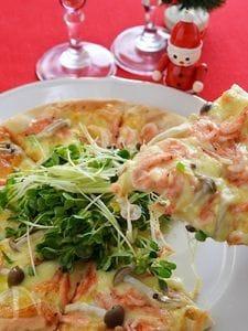市販のピザ生地で桜海老の和風ピザ