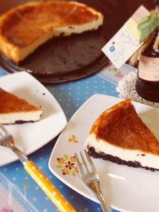 ヨーグルトで♪メープル香るベイクドチーズケーキ☆