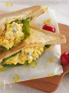卵サラダのトーストポケットサンド(ケイパー入り)