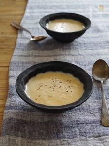 人参とごまの豆乳ポタージュ