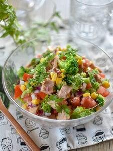 ツナと彩り野菜のチョップドサラダ