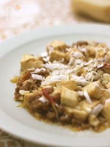 パルミジャーノ レッジャーノで麻婆豆腐
