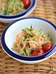 節約レシピ♪もやしの中華風サラダ