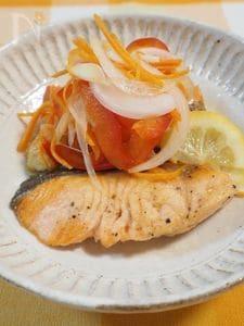 鮭のレモン南蛮