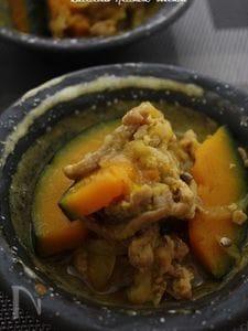 かぼちゃと豚肉の麹あんかけ ~カレー風味~