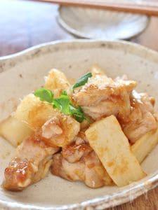 鶏肉と長芋の梅肉炒め