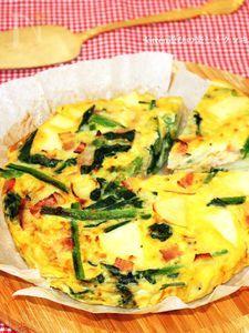オーブンde野菜たっぷりスペイン風オムレツ
