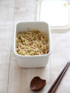 豆もやしの中華マリネ。