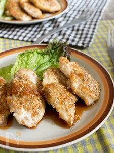 鶏胸肉のセサミ焼きしょうがソース