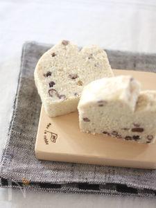 米粉の蒸しパウンドケーキ♪小豆ココナッツ