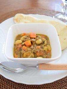 クミンと香菜(パクチー)の手作りスパイスカレー