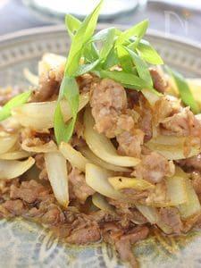 豚肉と玉ネギの炒め物、カレー風味